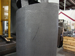 Cold chunk appears most commonly in lower graphite grades